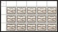 Newfoundland 1932 SG215 10c. Black-Brown Corner Blk of 15 MNH stamps