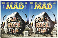 Mad Magazine #254 (2 Copies) Apr 1985 Special Rock Issue VF+ No Folds See Pics