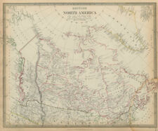 BRITISH NORTH AMERICA. Washington state shown as Canadian. Canada SDUK 1844 map