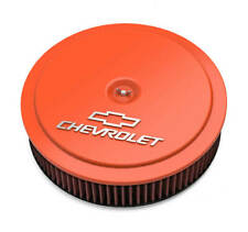 Holley 120-224  Licensed Chevy Bowtie 14 X 3 Air Cleaner Assembly Orange
