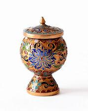 Vaso Cloisonnè Coppa Calice Cinese Oriental Ancient Antique Vase Copper H.5cm