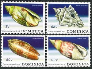 B135 DOMINICA 2009 set of 4 Sea Shells MNH