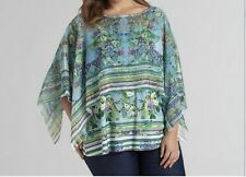 Women's Summer cocktail party dress blouse tunic Scarf Top&Cami Poncho plus1X$48