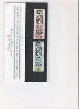 1986 ROYAL MAIL PRESENTATION PACK QUEENS 60TH BIRTHDAY MINT DECIMAL STAMPS