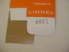 Lionel 6801 Flatcar w/brown boat Licensed Reproduction Window Box