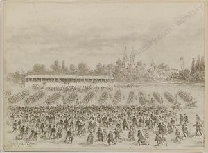 Jules Gaildrau (1818-1898), Parade, Drawing