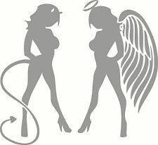 Good Girl Bad Girl, Angel, Devil #7 Naked Lady Sticker Decal Set