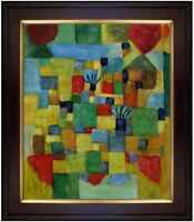 Framed, Paul Klee Southern Gardens Repro, Hand Painted Oil Painting 20x24in