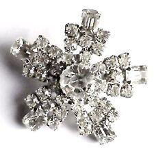 broche ancien bijou vintage pierre verre diamant solitaire taille émeraude 2967