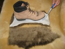 4 Brown Merino Sheepskin Pads Shoe Inserts Reline UGGs Slippers Boots Insoles