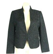 LOFT 16 Blazer Suit Jacket Black White Tweed 2 Pocket Hook Front Work OUTLET XL