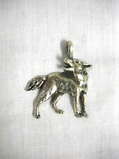 NEW WILDLIFE HOWLING TIMBER WOLF FULL BODY CAST PEWTER PENDANT ADJ CORD NECKLACE