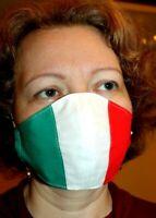 MASCHERIN TRICOLORE ITALIA LAVABILI COTONE 100% sartoriale piu 1 Filtro INCLUSO