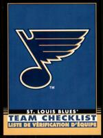 2020-21 O-Pee-Chee Retro Black Team Checklist 575 St. Louis Blues /100