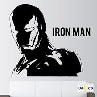 Iron Man Boys Kids Film Quote Wall Art Stickers Decals Vinyl Decor Room Home