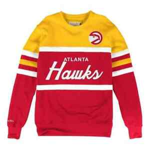 Atlanta Hawks Mitchell & Ness NBA Men's Head Coach Crew Sweatshirt
