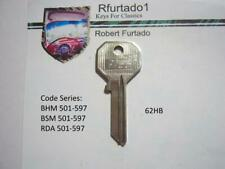 Key Blank for Vintage Rolls Royce & Bentley Master Key 1950's to 1970  (62HB)