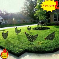 1PC Garden Ornaments Chicken Yard Art Garden Backyard Lawn Decor Gift Easter