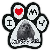 Picture Paws | Dog Paw Shaped Magnets: I LOVE MY COCKER SPANIEL | Car Magnet