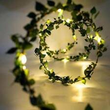 Outdoor Waterproof 2m Leaf Garland Copper Wire LED String Light for Party Decor