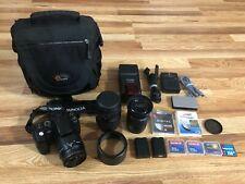 Konica Minolta Dynax 5D Digital SLR Camera 28-80mm, 70-300mm, 18-70mm Lenses
