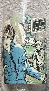 Luke Skywalker Yoda Star Wars The Empire Strikes Back Burger King Glass 1980