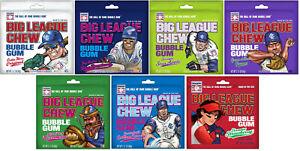 Big League Chew Bubble Gum Original Grape Sour Apple Strawberry Blue Raspberry