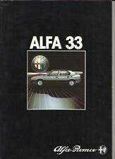 ALFA ROMEO 33 - 33 1.3, 33 1.5 e 33 ORO svincolo a quadrifoglio SALES BROCHURE 1985