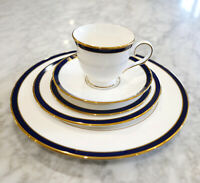 Elegant Lenox Federal Cobalt White Bone China 5 Piece Place Setting Made in USA