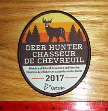 2017 ONTARIO MNR DEER HUNTING PATCH bear,moose,elk,hunter,canadian,patches,dnr