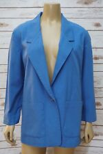 Alfred Dunner Womens 8 Blazer Jacket Blue One Button