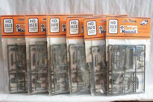 HO Scale-Roco Minitanks 357 Snowplow and Crane Kits Lot of 6 NEW