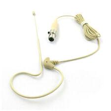 Tan Single Earset Head Mic for Shure Wireless System BLX, GLX, PG, PGX, SLX, ULX