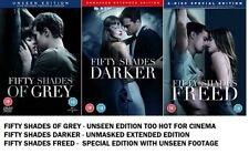 FIFTY SHADES OF GREY DARKER FREED TRILOGY MOVIE FILM 50 GRAY EXTENDED UNSEEN DVD
