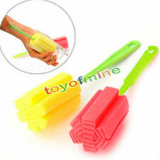 Hot Random Sponge Brush Bottle Cup Glass Washing Cleaning Kitchen Cleaner Tool