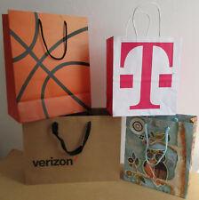 Lot 4 Paper Gift Shopping Bags Verizon T-Mobile Marshalls C.R. Gibson Colorifies