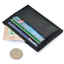 Mens Black Slim Credit Card Holder Thin Mini Wallet ID Case Cion Purse Bag Pouch