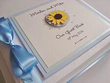 Handmade Personalised Sunflower Wedding Guest Book