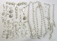 Vintage Lot of Chandelier Crystal Prisms Balls Pendants Replacement Pieces