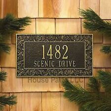 Whitehall  Products PERSONALIZED HOUSE ADDRESS PLAQUE Oakleaf