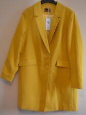 New M/&S Autograph Yellow Linen Rich Longline Duster Coat Sz UK 10 rrp £99
