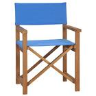 vidaXL Solid Teak Wood Director's Chair Folding Red Garden Outdoor Camp Seat