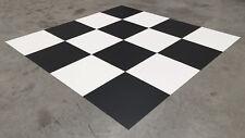 BLACK AND WHITE VINYL TILES - FLOORING CHECKED WATERPROOF RETRO LUXURY PVC TILE