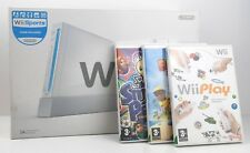Nintendo Wii White Console with Wii Sports in Original Box - PLUS 3 other Games