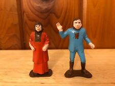 PLANET OF THE APES 2 Plastic Figure Lot Vintage MPC playset Zira and Dr Zaius