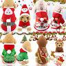 Noël Santa Pet Vêtements Chaud Gilet Costume Manteau Chien Chat Sweat à Capuche