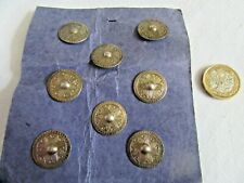 More details for antique/vintage set of 8 etched silver 835 buttons