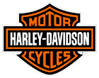 Harley Davidson Motorcycle Vinyl Sticker - 3 x 2.75 in.