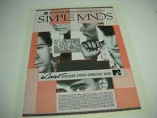 SIMPLE MINDS In Concert On Westwood May 7, 1986 Promo Poster Ad
