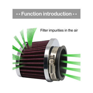 45mm Motorcycle Air Filter Motocross Scooter Air Pods Cleaner Universal